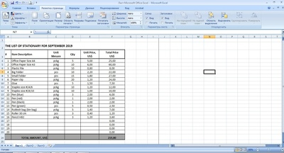 Make 1 Excel Spreadsheet with 100 rows of data