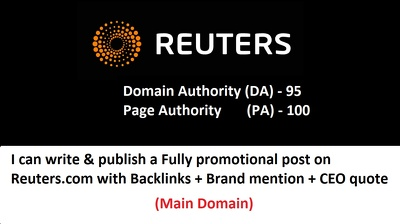 Publish your post on Reuters.com