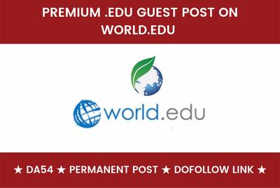 Publish a guest post on World EDU Blog - World.edu
