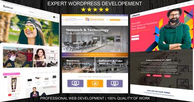 Develop professional Wordpress website design