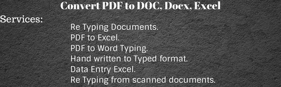 Convert image or PDF to word or excel