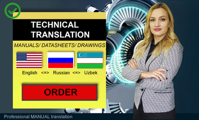 Translate any kind of technical document (price for 1000 words)