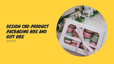 Design cbd product packaging box and gift box