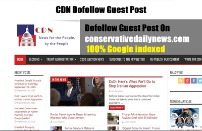 Publish Dofollow Guest Post On conservativedailynews DA60