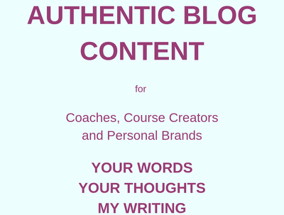 Turn YOUR words and thoughts into 3 professional blog posts