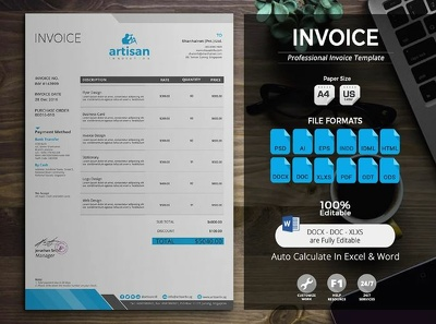 Create professional invoices in 2 Hour