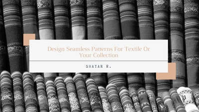 Design Seamless Patterns For Textile Or Your Collection