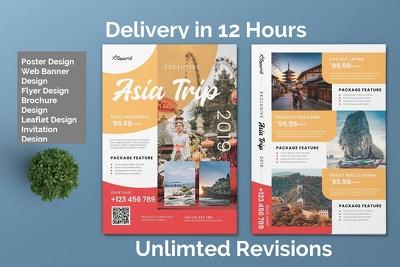 Design unique flyer, poster, leaflet or brochure design