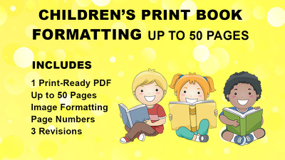 Format Children's Print Book Up to 50 Pages
