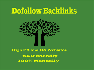 Able to do 50 dofollow backlinks on high pa and da websites