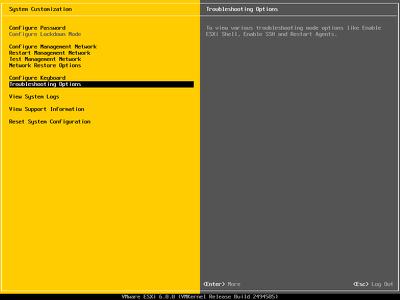 Configure vmware workstation, esxi and vcenter infrastructure