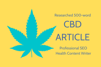 Write a researched 500w article on an UK CBD/Cannabidiol topic