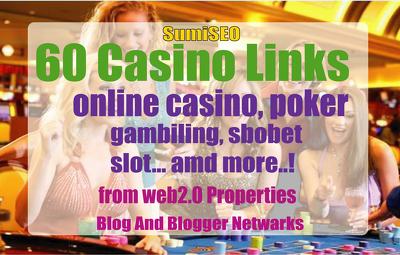60 Casino web2.0 Blog post- Casino / Gambling / Poker / Betting