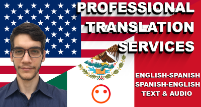 Transcript/translate 10 minutes of audio from English to Spanish