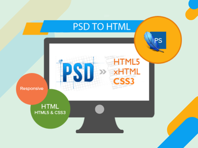 Convert psd to html website