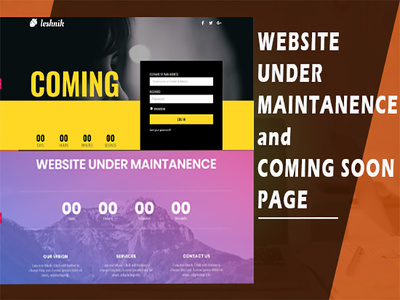 Create under maintenance, under construction, coming soon page