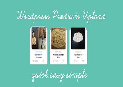 Add ecommerce product to wordpress site.