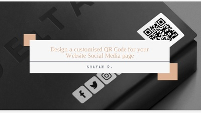 Design one customised QR Code for your Website Social Media page