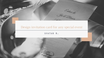 Design invitation card for any special event