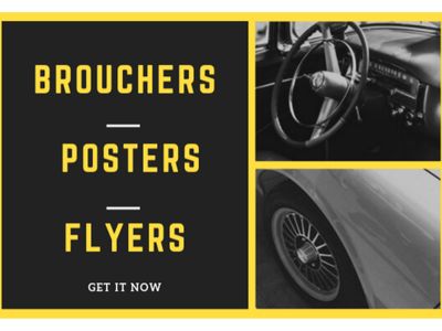 Design Clean Poster, Flyer or Brochure within 24 Hour