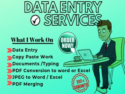 do Copy Paste pdf onto Excel data Entry Work for 2 hours