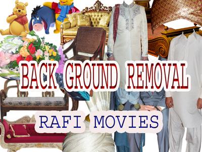 Background remove in images retouching resizing etc 50 images
