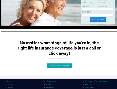 Complete a high converting landing page for your agency