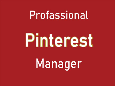Optimize and Manage your pinterest business Account