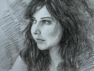 Draw handmade realistic pencil sketch portrait in 48 hours