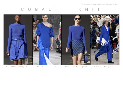 Compile a Catwalk Knitwear trend pack from SS2020 shows