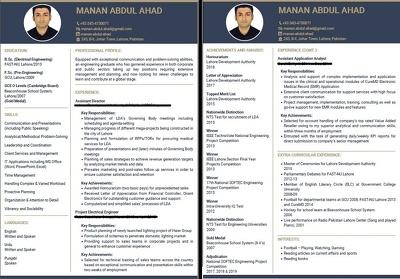 Make you modern CVs and Resumes