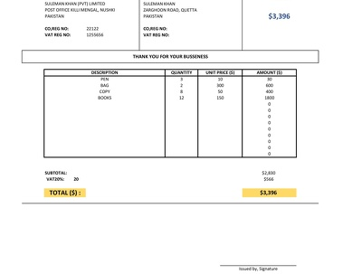 Make You A Fully Automatic Invoice Template In Excel