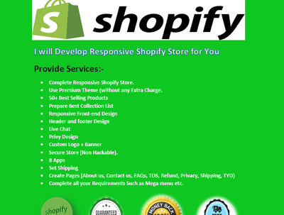 Design Responsive Shopify store or Shopify website