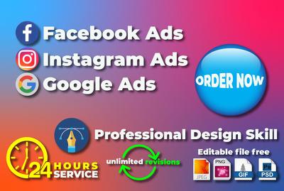Design Facebook Instagram and Google Ad Images
