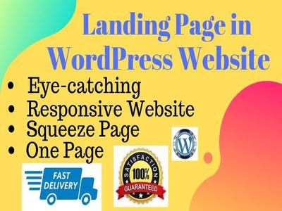 Create a world-class modern landing page design in WordPress