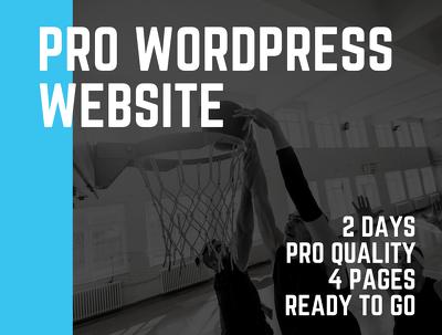 Make a PRO Wordpress website