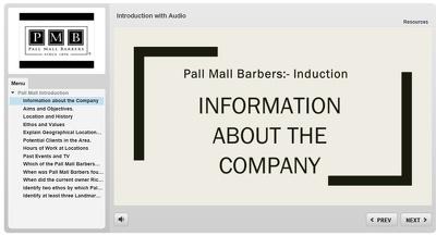 Create interactive e-learning per