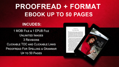 Proofread and Format Ebook Up to 50 Pages