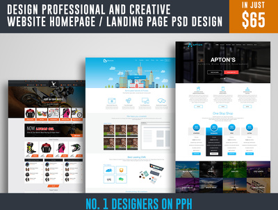 Design Professional And Creative Website Homepage / Landing Page