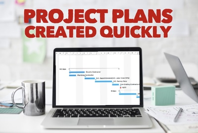 Create professional project plans including Gantt charts