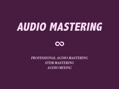 Master and mix your tracks!