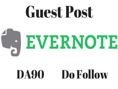 Write and Publish Guest Post on Evernote - evernote.com DA 91