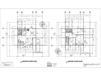 create 2D plans in AutoCAD from hand sketches.