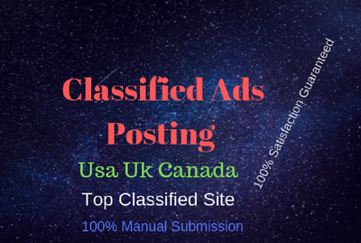 Do 60 manually post your ad high quality classified ads site