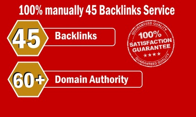 Limited Time- 45 Backlinks from High DA-60+ Domains