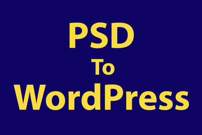 Convert PSD or HTML or JPG to WordPress using Divi