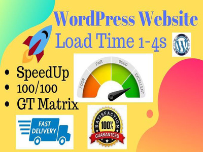 Speed up any wordpress website with GTmetrix in 24hrs
