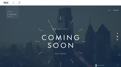 Create a professional + modern design WIX website