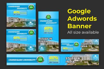 Create 2 Banner Design For Google Adwords Display Ads