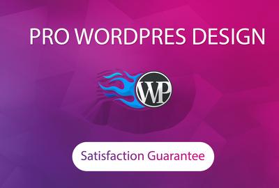 Create professional and responsive wordpress website design